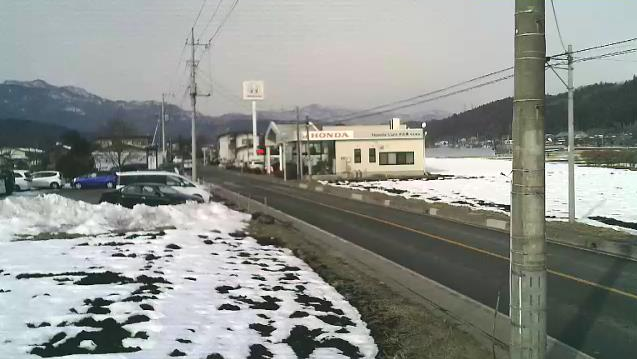 測研あがつま事業所から四万温泉方面・国道353号(日本ロマンチック街道)