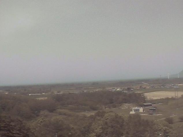ゆべつの湯展望台から寿の都風力発電所風車