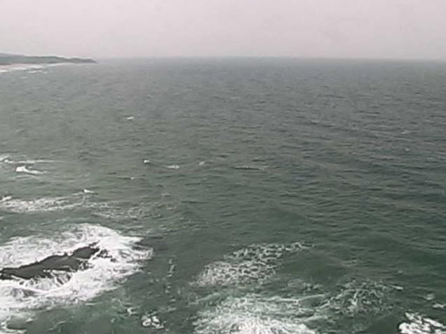 石見大崎鼻灯台から見郷浦・日本海・大崎鼻・石見大崎鼻灯台東側海岸・石見海浜公園