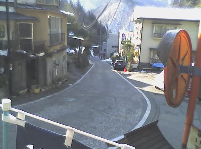 沢渡温泉共同浴場から日本ロマンチック街道