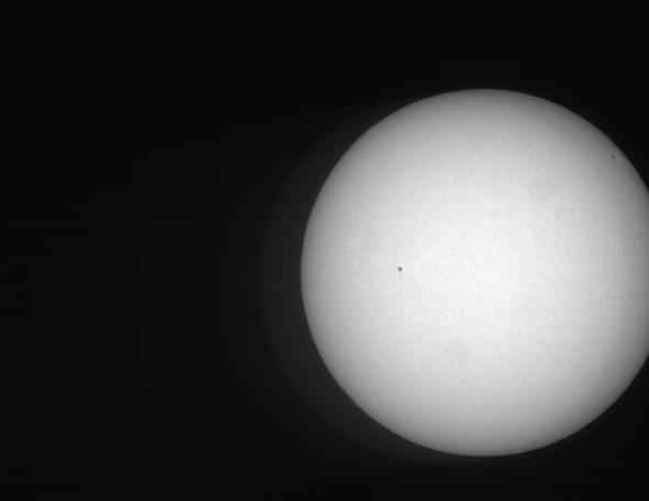 西はりま天文台太陽全面白色像