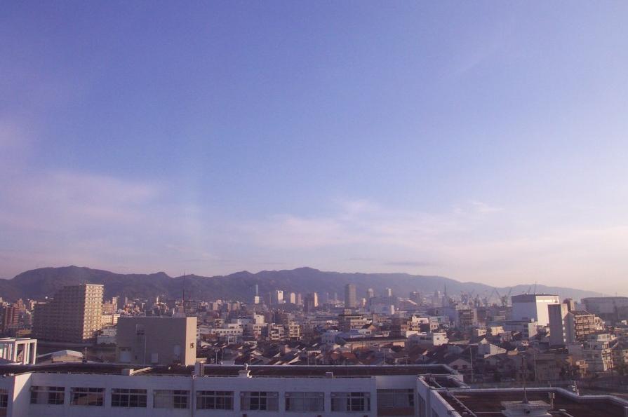兵庫工業高等学校から神戸市内・摩耶山