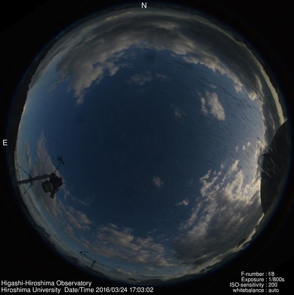 東広島天文台から東広島市上空