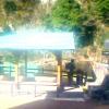 プチホテルゆばらリゾート足湯ライブカメラ(岡山県真庭市湯原温泉)