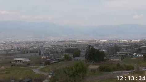 花鳥山一本杉公園(花鳥山展望台)から山梨市・甲州市方面