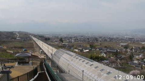 花鳥山一本杉公園(花鳥山展望台)から甲府市方面