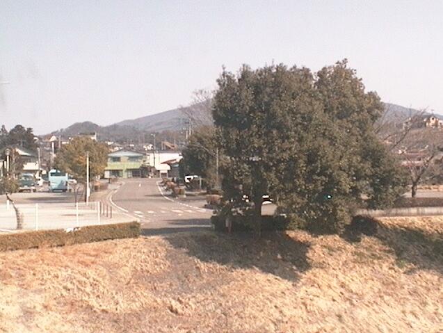 田村市水道事業所から田村市文化センター・大滝根川付近・桜