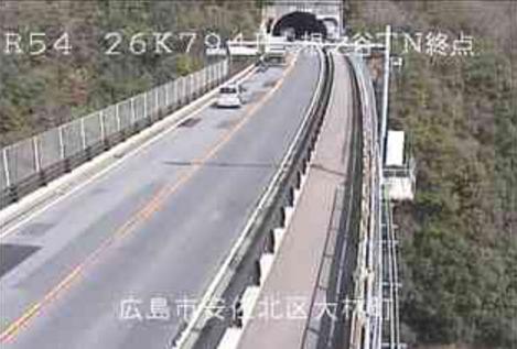 国道54号根之谷トンネル終点