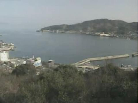 音戸の瀬戸南口から音戸漁港・倉橋島・瀬戸内海