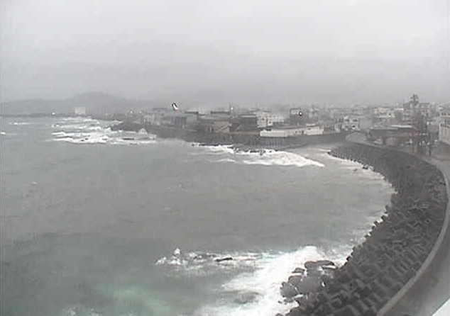 枕崎観光ホテル岩戸から東シナ海の水平線