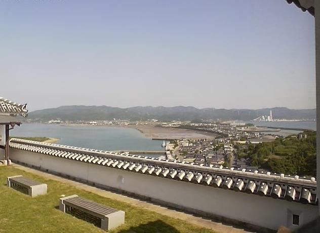 熊本県富岡ビジターセンターから苓北町市街・天草灘・富岡湾