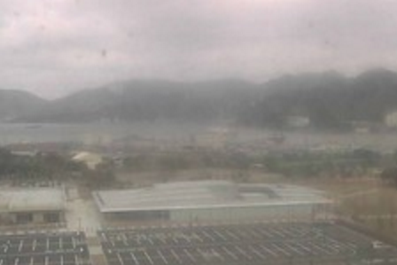 京都府立舞鶴総合庁舎から舞鶴湾・愛宕山