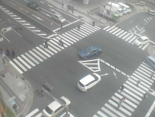 プライムビル屋上から近鉄奈良駅・国道369号・ひがしむき商店街