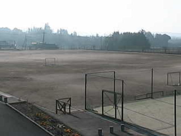 奈義中学校からグラウンド・校庭