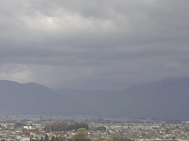 長野銀行本店屋上から乗鞍岳・上高地
