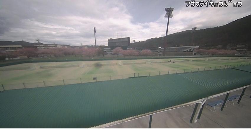 浅間温泉庭球公園からテニスコート・桜