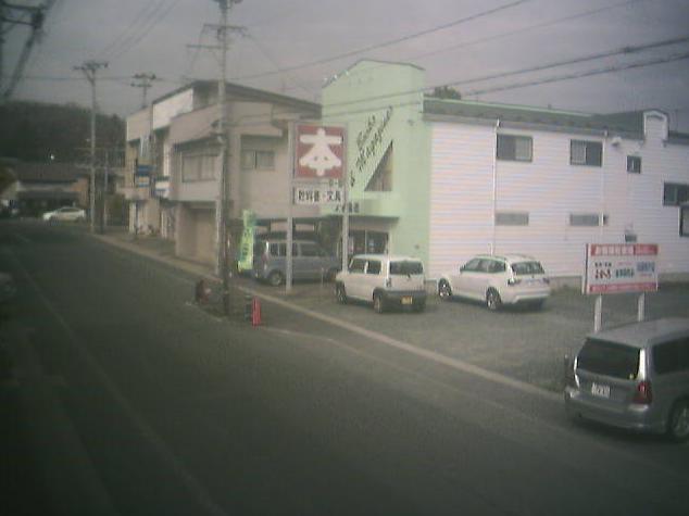 目明かし堂から岩手県道25号紫波江繋線・日詰商店街