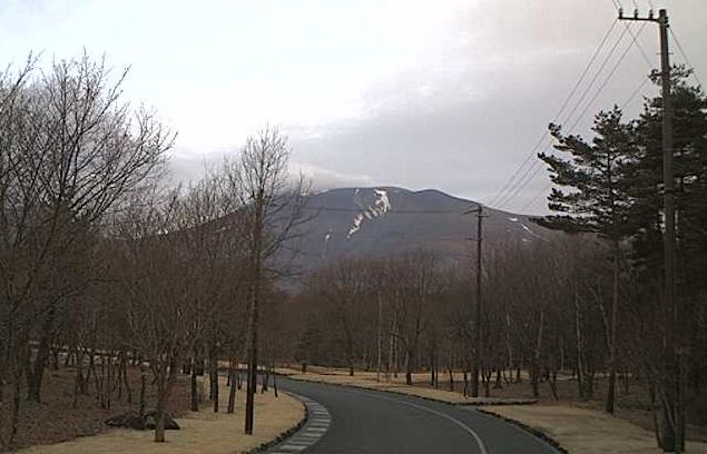 西武プロパティーズ軽井沢営業所から浅間山