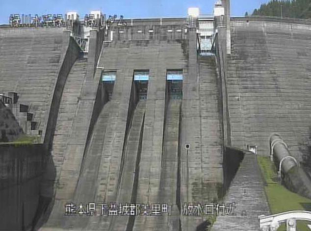 緑川ダム放水口