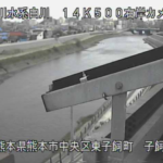 白川子飼橋ライブカメラ(熊本県熊本市中央区)