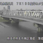 白川薄場橋ライブカメラ(熊本県熊本市南区)