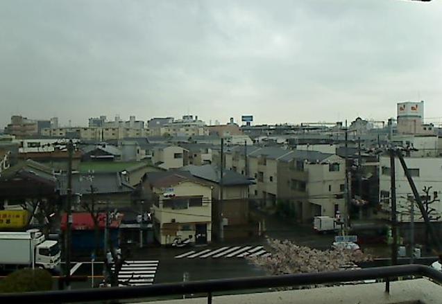 西淀川区佃から大阪上空
