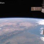 NASA国際宇宙ステーションISSライブカメラ(地上約400km上空)