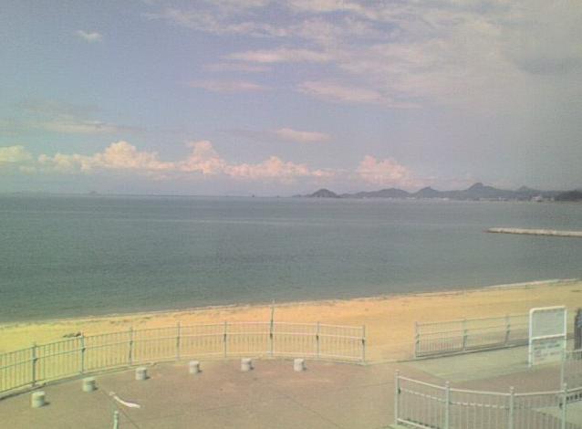 堀江マリンハウスから堀江海水浴場が見えるライブカメラ。