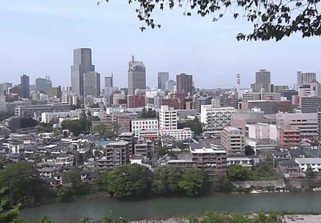 愛宕神社から仙台市中心部