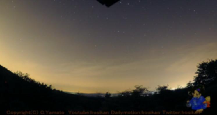 神野山森林科学館から星空が見えるライブカメラ。