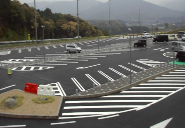 長篠設楽原パーキングエリア(長篠設楽原PA)上りから新東名高速道路