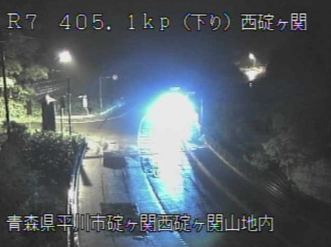 西碇ヶ関から国道7号が見えるライブカメラ。