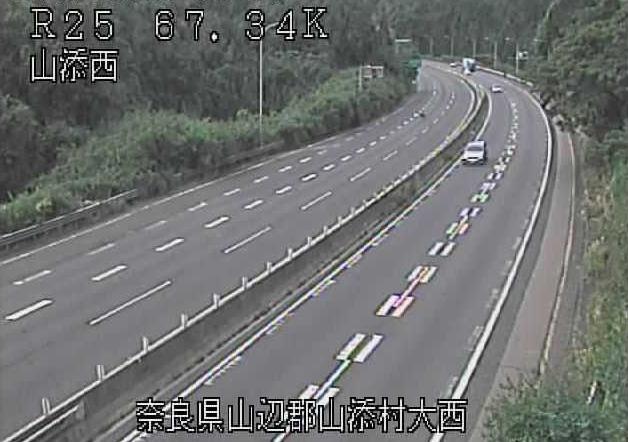 山添西から名阪国道(国道25号バイパス)が見えるライブカメラ。