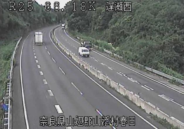 遅瀬西から名阪国道(国道25号バイパス)が見えるライブカメラ。