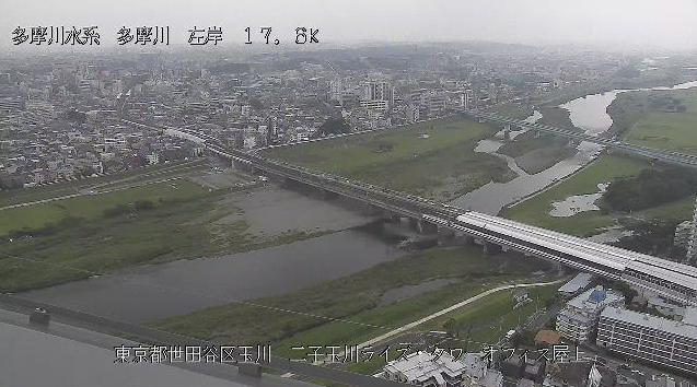 多摩川二子玉川ライズタワーオフィス屋上ライブカメラは、東京都世田谷区玉川の二子玉川ライズタワーオフィス屋上に設置された多摩川が見えるライブカメラです。