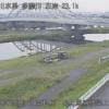 多摩川小田急線橋梁上流ライブカメラ(東京都狛江市東和泉)
