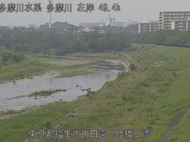 多摩川睦橋上流ライブカメラは、東京都福生市南田園の睦橋上流に設置された多摩川が見えるライブカメラです。