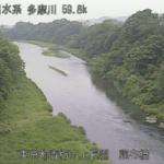 多摩川調布橋水位観測所ライブカメラ(東京都青梅市長淵)