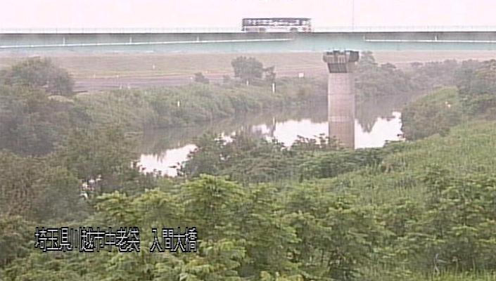 埼玉県川越市中老袋の入間大橋に設置された入間川が見えるライブカメラです。