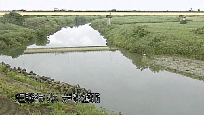 荒川大芦橋ライブカメラは、埼玉県熊谷市小八林の大芦橋(大芦橋水位観測所)に設置された荒川が見えるライブカメラです。