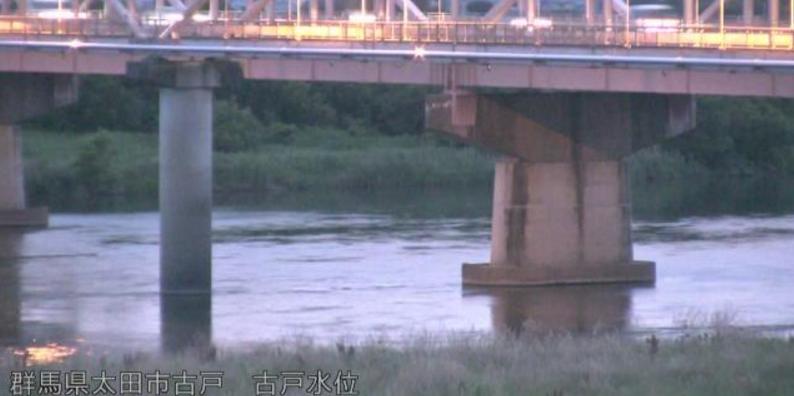 利根川古戸水位観測所ライブカメラ(群馬県太田市古戸町)