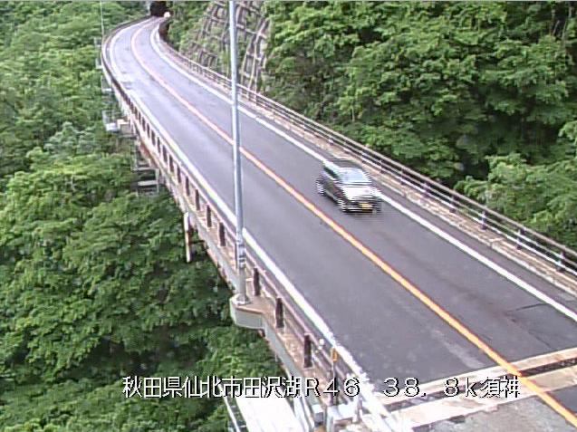 須神から国道46号が見えるライブカメラ。