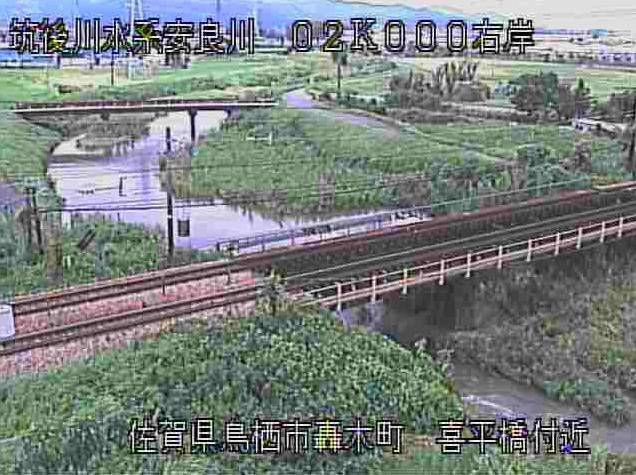 安良川喜平橋ライブカメラは、佐賀県鳥栖市轟木町の喜平橋に設置された安良川が見えるライブカメラです。