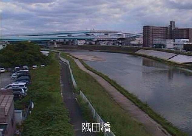 御笠川隅田橋ライブカメラは、福岡県福岡市博多区の隅田橋に設置された御笠川が見えるライブカメラです。