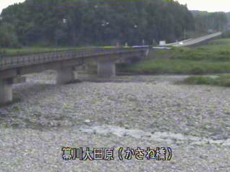 栃木県大田原市佐久山のかさね橋に設置された箒川が見えるライブカメラです。