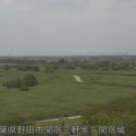 江戸川分派点関宿城ライブカメラ(千葉県野田市関宿)