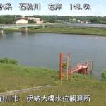 石狩川伊納水位観測所ライブカメラ(北海道旭川市江丹別町)