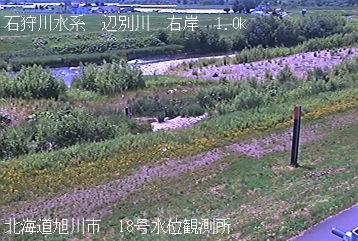辺別川18号水位観測所ライブカメラは、北海道旭川市西神楽の18号水位観測所に設置された辺別川が見えるライブカメラです。