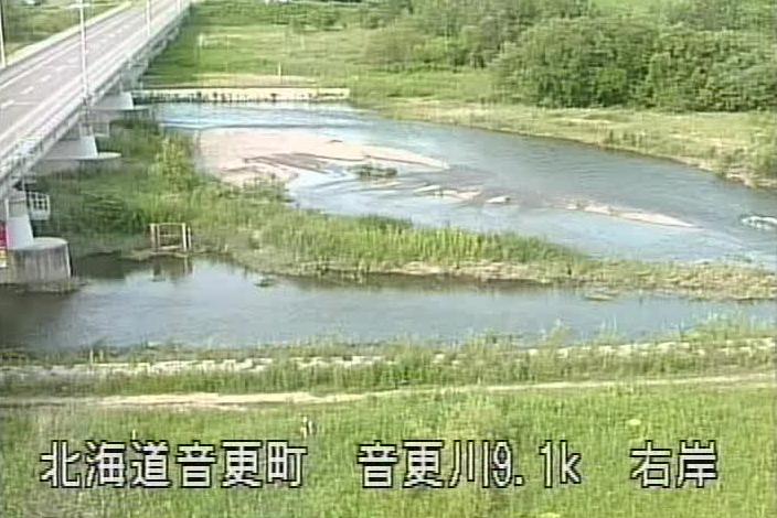 音更川音更観測所ライブカメラは、北海道音更町新通の音更観測所に設置された音更川・音更橋が見えるライブカメラです。