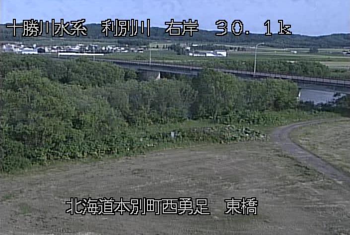 利別川東橋観測所ライブカメラは、北海道本別町勇足の東橋観測所に設置された利別川が見えるライブカメラです。